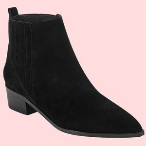 Marc Fisher iYOMMI Black Suede Ankle Booties